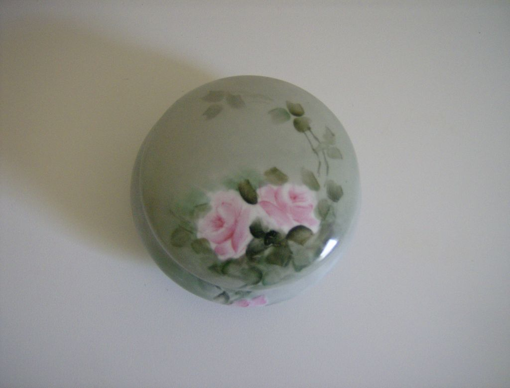 Z.S. & Co. Bavaria  ~ Handpainted ~  Porcelain Trinket Jar, Powder Jar