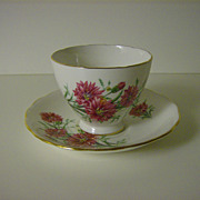 Royal Vale English Bone China Pink Cornflowers Tea Cup and Saucer