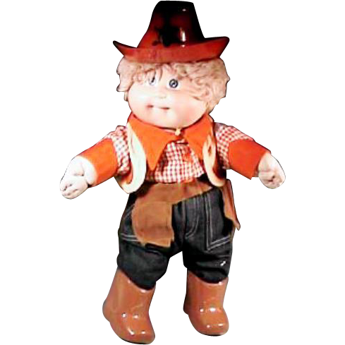Cute cabbage patch kids cowboy ready for halloween or the rodeo from marywhite on ruby lane for Cabbage patch kids halloween