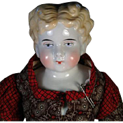 "20"" Antique Blonde China Head Doll Cloth Body Germany"