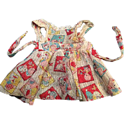 Adorable Toy Print Pinafore or Apron for Dy-Dee Baby, Betsy Wetsy or Tiny Tears Doll