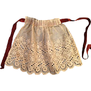 Lacy Apron for Any Doll Made with an Ecru Color White Work