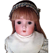 "Antique 22"" Bisque Socket Head Doll ABG 1362 Ball Jointed Body Alt Beck Gottschalk"