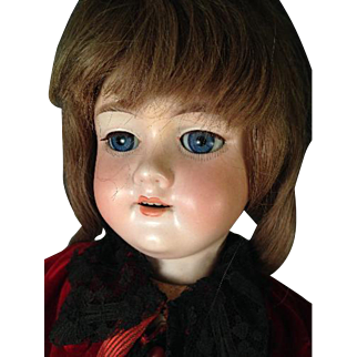 """23"""" Bisque Head Doll AM 390 Armand Marseille Ball Jointed Composition Body"""