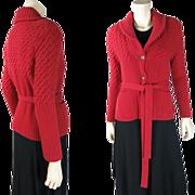 Vintage Sonia Rykiel Wool & Angora Belted Cardigan Sweater ON LAYAWAY