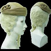 1950's Hattie Carnegie Fine Straw Hat