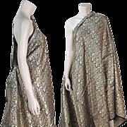 Five Yards Of Unused Vintage Silk Lame Damask Indian Fabric
