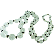 Brilliant Art Deco Vintage Faceted Rock Crystal Rope Necklace 42-Inches
