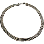 Exotic Vintage Sterling Silver Choker Necklace