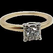 Jabel 14K Yellow Gold 1/3 Carat Diamond Solitaire Engagement Ring