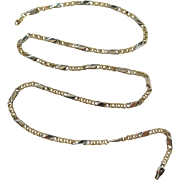 Pretty Vintage 14K Gold Double Link Chain Necklace - 19 3/4-inches And 7.7 Grams