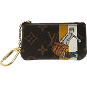 Louis Vuitton Monogram Groom Bellboy Key Wallet / Pochete Cles