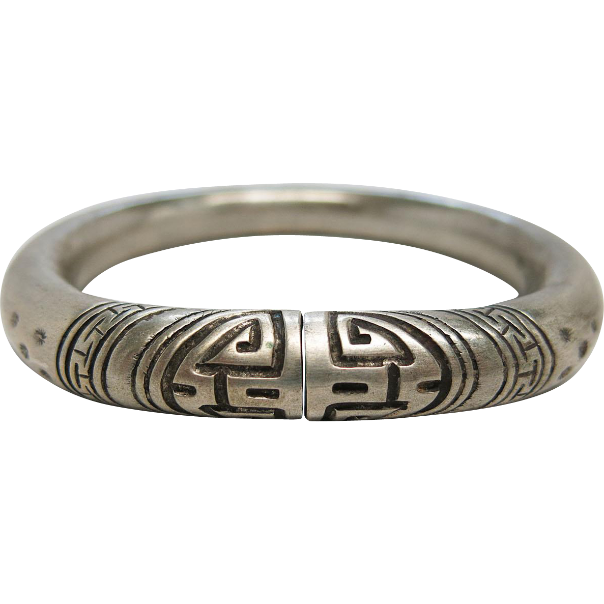 antique silver bangle bracelet from rubylane sold