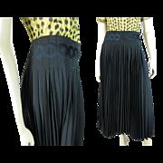 Issey Miyake Pleated Black Polyester Skirt Unworn With Original Tags