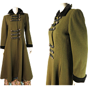 Iconic Vintage Yves Saint Laurent Rive Gauche Cossack Coat From The 1976 Ballet Russes / Russian Collection ON LAYAWAY
