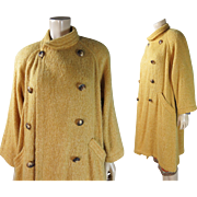 1980's Emanuel Ungaro Parallele Wool Cashmere Blend Dolman Sleeve Coat