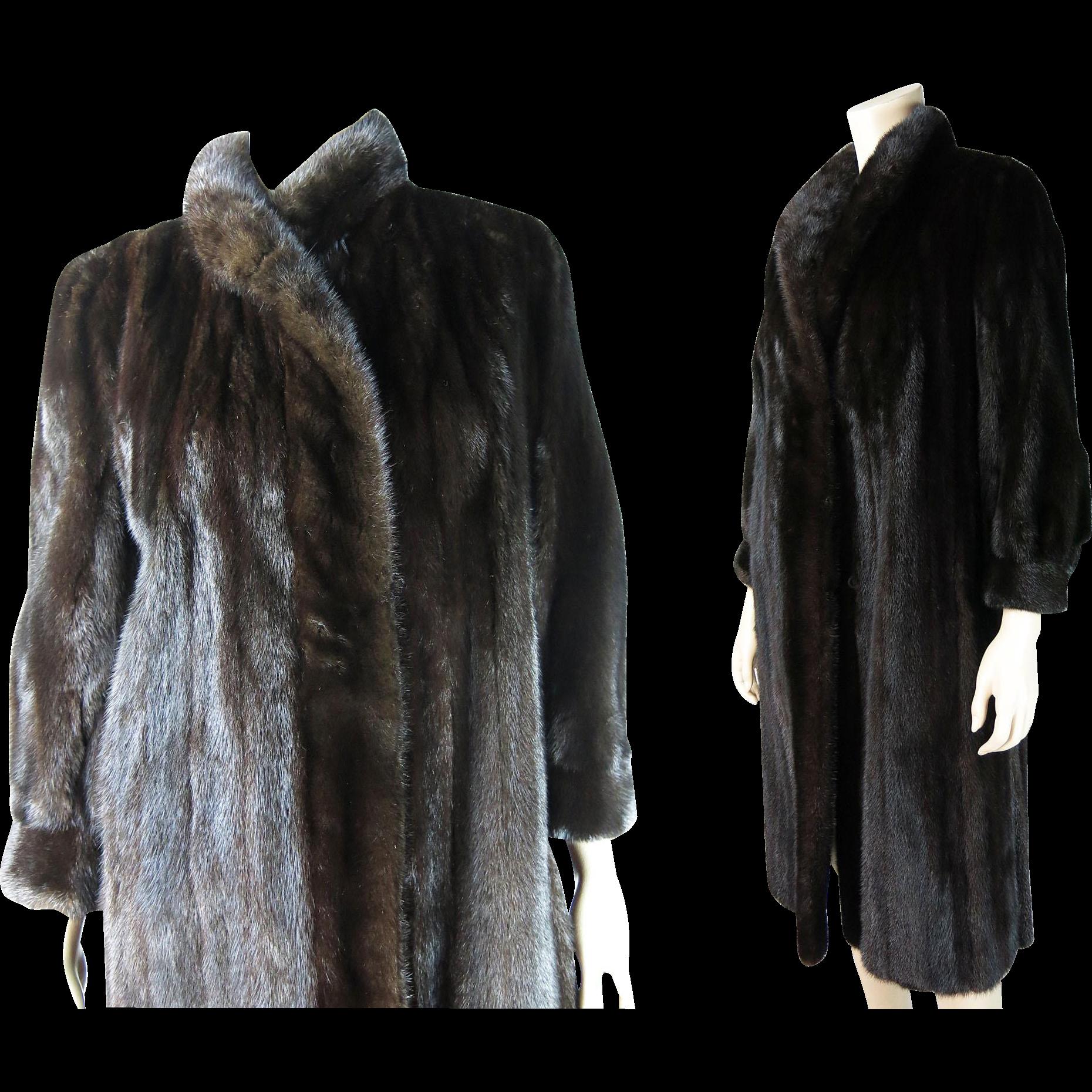 Vintage Black Mink Coat With I Magnin Label ON LAYAWAY from ...