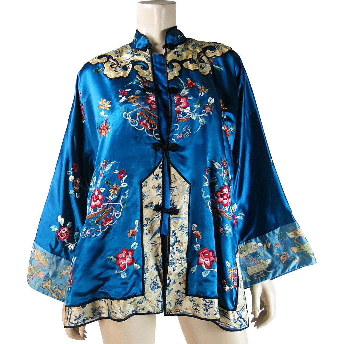 Vintage Embroidered Silk 50