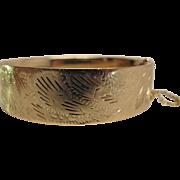 Vintage 14K Yellow Gold Victorian Revival Bracelet