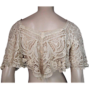 Antique Victorian  Lace Canezou Jacket