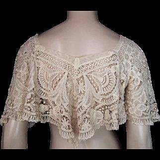 Antique Victorian  Lace Canezou Jacket