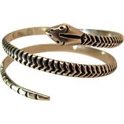 Vintage Antonio Reina Taxco Mexican Sterling Silver Snake Bracelet - Arm Band