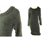 Elegant Clove Vs Cloves Y. Hiromi Boucle Knit Sheath Dress
