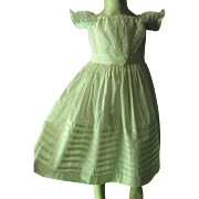 Crisp Antique Circa 1850 Victorian Child's Embroidered Dress