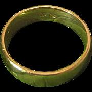 Antique 14K Yellow Gold Wedding Band Ring Size 8.5