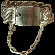Massive Vintage Mexican Sterling Silver Double Curb Link Biker Bracelet