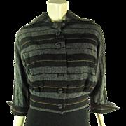 Stylish 1940's Vintage Cropped Striped Wool Jacket