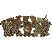 Vintage Taxco Mexican Pre Eagle Mark 980 Silver Vindobonensis Bracelet
