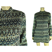 Glittering 1960's Vintage Pierre Balmain Les Tricots Knit Mini Dress
