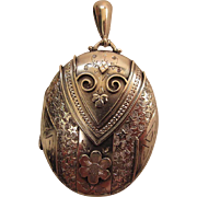 Exceptional Antique English Victorian Locket By Payton, Pepper & Co. 1893