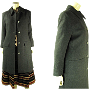 Vintage Givenchy Couture Label Long Black Wool Coat