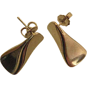 Vintage Georg Jensen Edvard And Tove Kindt-Larsen Design 116A Earrings For Pierced Ears