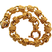 Beautiful And Sophisticated 8-Inch Vintage 14K Yellow Gold Bracelet