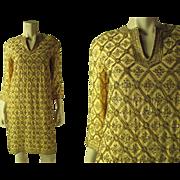 Opulent 1960's Marie McCarthy For Larry Aldrich Beaded Dress