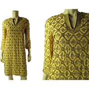 Opulent 1960's Marie McCarthy For Larry Aldrich Beaded Dress