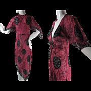 Flirty 1970's Gauzy Cotton Handkerchief Point Dress With Great Print