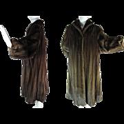 Long And Luscious 1980's Vintage Mahogany Mink Coat