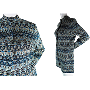 1960's Vintage Pierre Balmain Les Tricots Knit Mini Dress Size 18