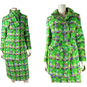 Fabulous 1960's Custom Made Three-Piece Ensemble With Skirt, Coat And Scarf