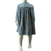 Antique 1880's Child's Blue Gingham Dress With Provenance ON LAYAWAY