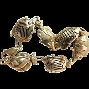 Whimsical Enameled 14K Gold Fish Bracelet With Diamond Eyes ON LAYAWAY