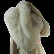 Luscious 1950's Vintage White Arctic Fox Fur Stole