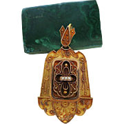 Antique Victorian Etruscan Revival 14K Gold Locket Pendant