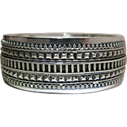 Antique Victorian Sterling Silver Hinged Bangle Bracelet