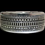 Antique Victorian Sterling Silver Hinged Bangle Bracelet
