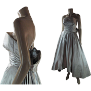 Dreamy 1950's Vintage Helena Barbieri Strapless Evening Dress
